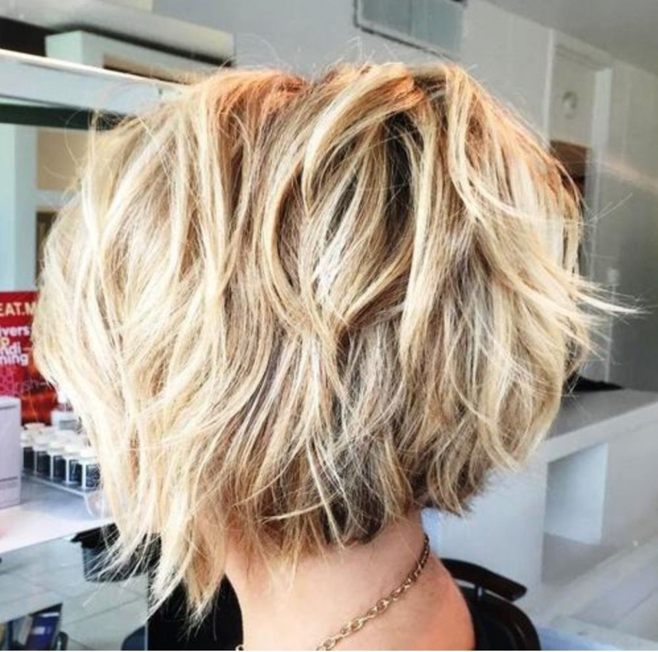 Image Result For Feathered Tousled Blonde Bob Back View (View 14 of 20)