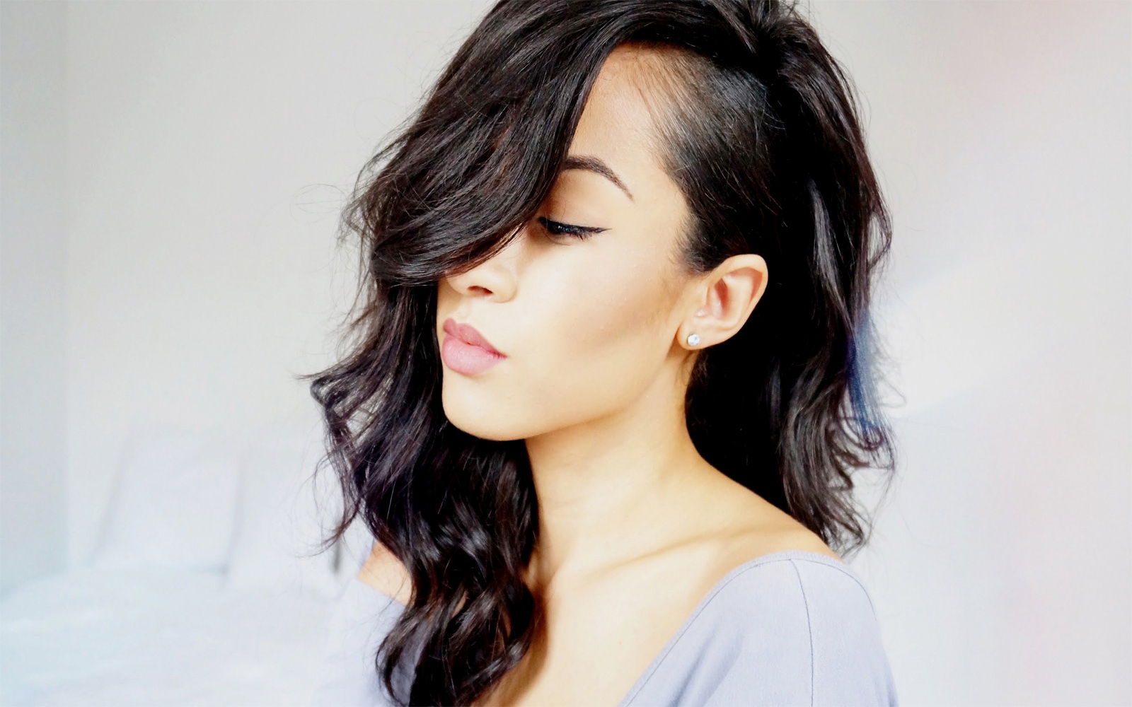 Images In Most Current Medium Hairstyles Shaved Side (Gallery 2 of 20)