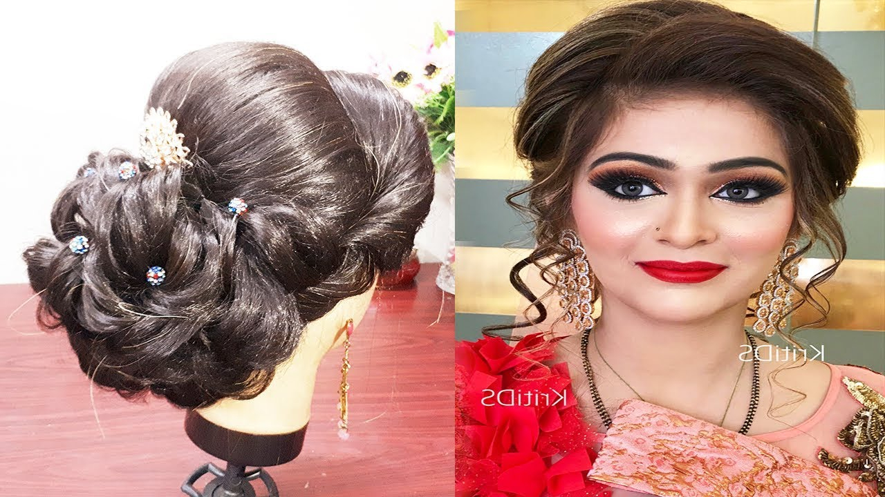 Photo Gallery Of Indian Bridal Medium Hairstyles Viewing 8