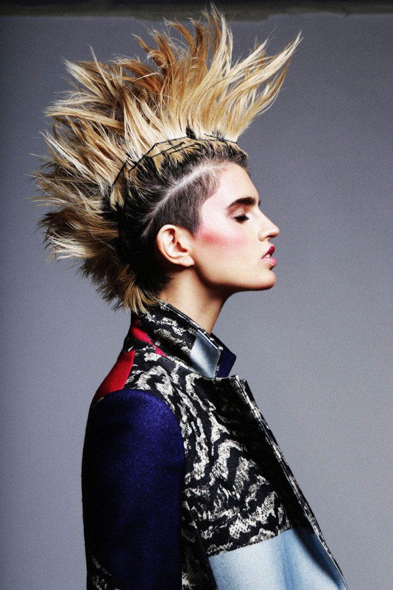 Infl Punk For Current Punk Rock Princess Faux Hawk Hairstyles (View 8 of 20)