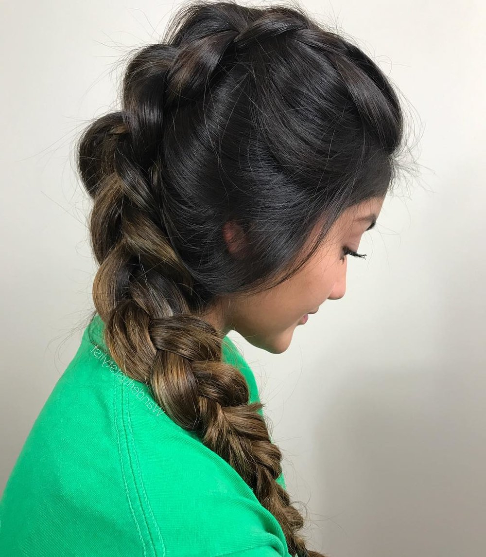 Insta Braid Inspiration Perfect For Summer — Verb For Recent Braided Tower Mohawk Hairstyles (View 8 of 20)