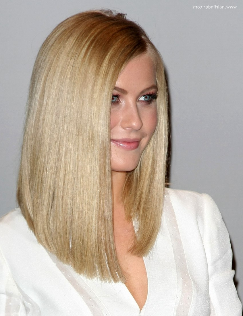Julianne Hough's Bone Straight And Ultra Silky Hair Inside Most Current Julianne Hough Medium Hairstyles (Gallery 20 of 20)