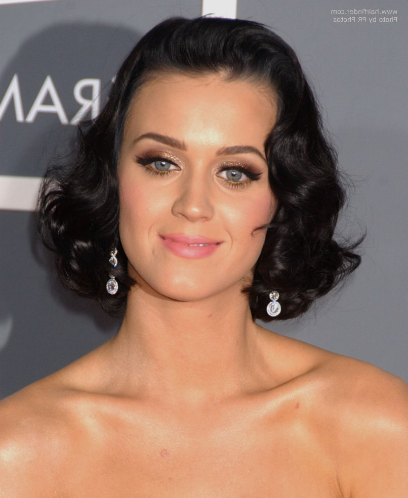 Katy Perry's Hair Styled In Sexy Waves And Nia Peeples Long Hair With Widely Used Katy Perry Medium Hairstyles (View 6 of 20)