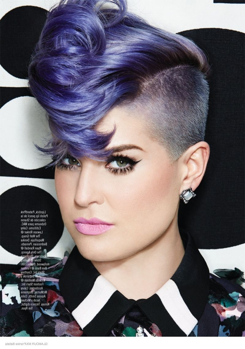 Kelly Osbourne Stars In Glamour Mexico Shootfrankie Batista Intended For Most Current Extravagant Purple Mohawk Hairstyles (Gallery 15 of 20)