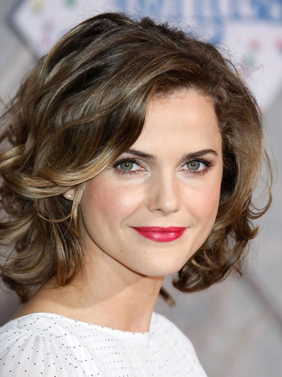 Keri Russell, Frizzy Intended For Best And Newest Medium Haircuts For Frizzy Wavy Hair (Gallery 10 of 20)