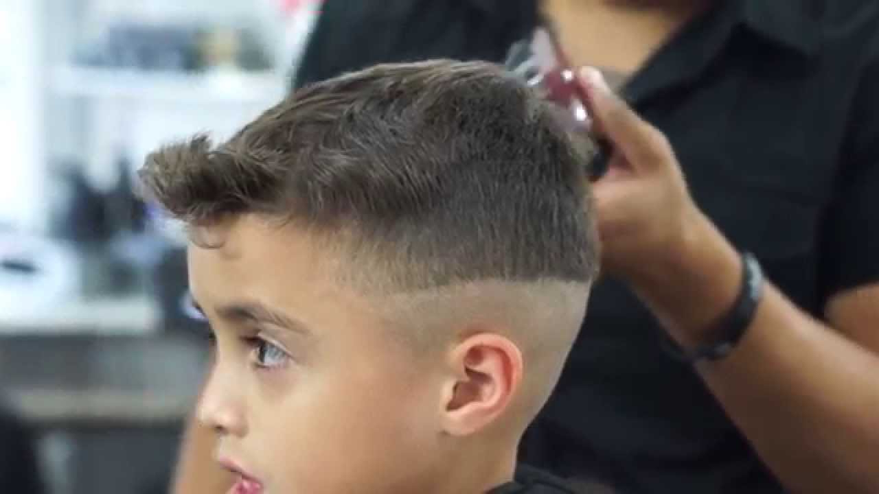 Kid Cuts – Hair Flip Mid Fade Tutorial – Youtube Inside Most Popular Flipped Medium Hairstyles (Gallery 19 of 20)