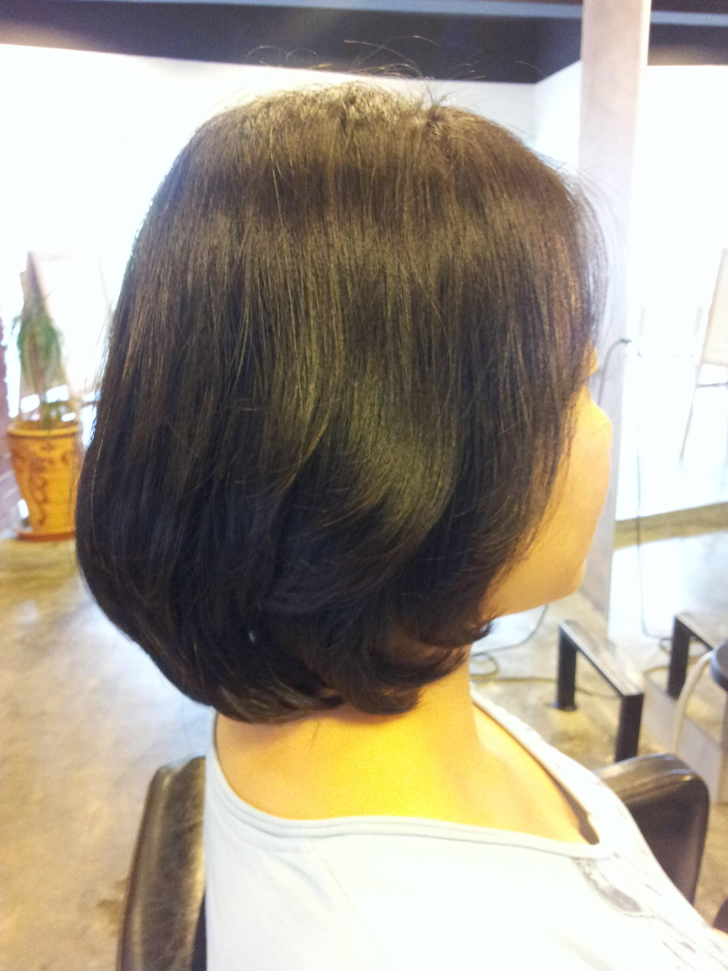 Korean Style Square Medium Bob + Volume Rebonding « Yoo Jean's Hair In Trendy Rebonded Medium Hairstyles (View 11 of 20)