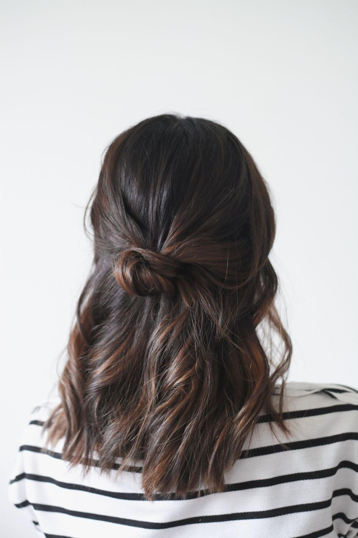 Lady Hair Inside Recent Half Long Half Medium Hairstyles (View 8 of 20)