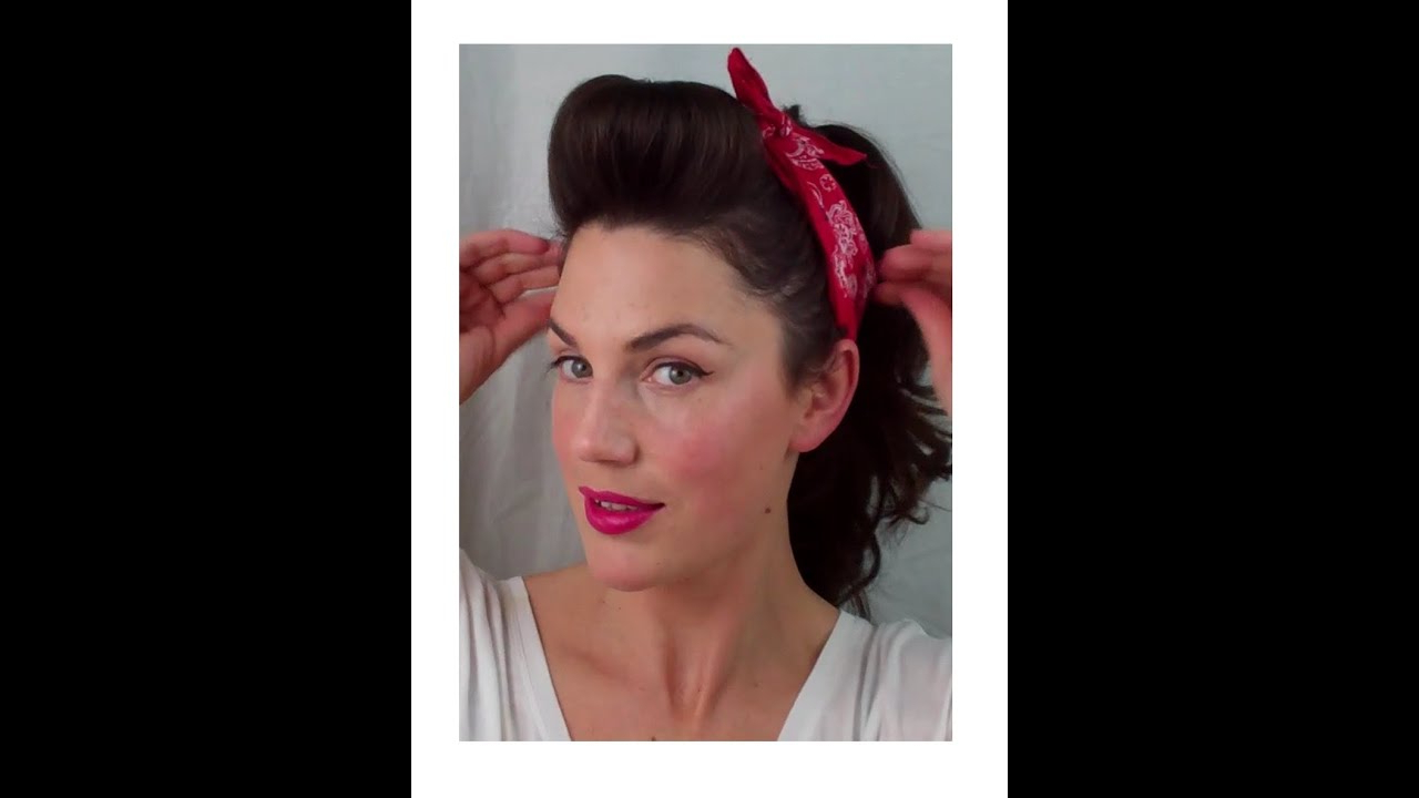 Latest 1950 Medium Hairstyles Within 6 Pin Up Looks For Beginners ( Quick And Easy Vintage/ Retro (Gallery 10 of 20)