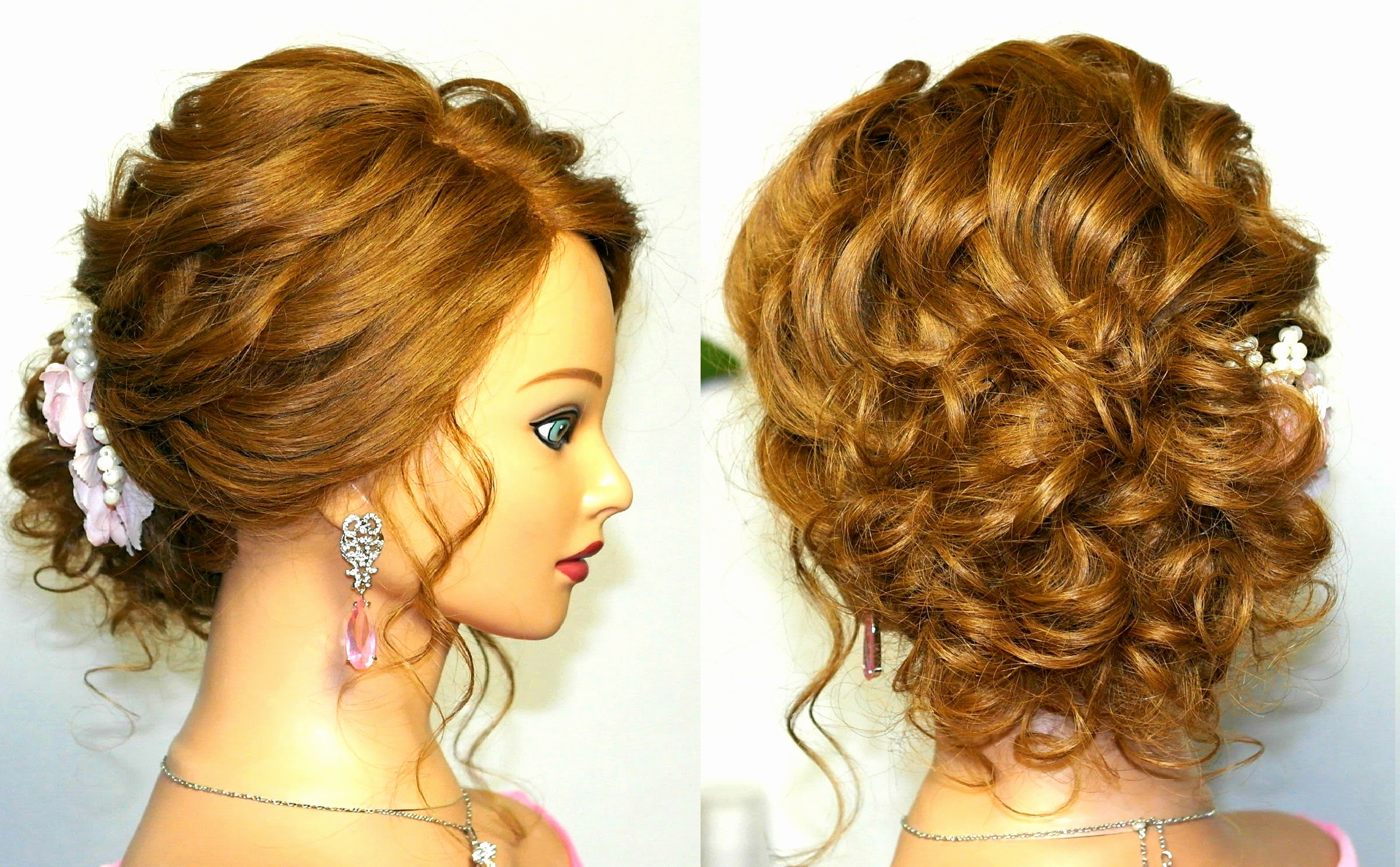 Latest Elegant Medium Hairstyles For Weddings In Wedding Hairstyle For Medium Long Hair Elegant Updo Download (View 10 of 20)