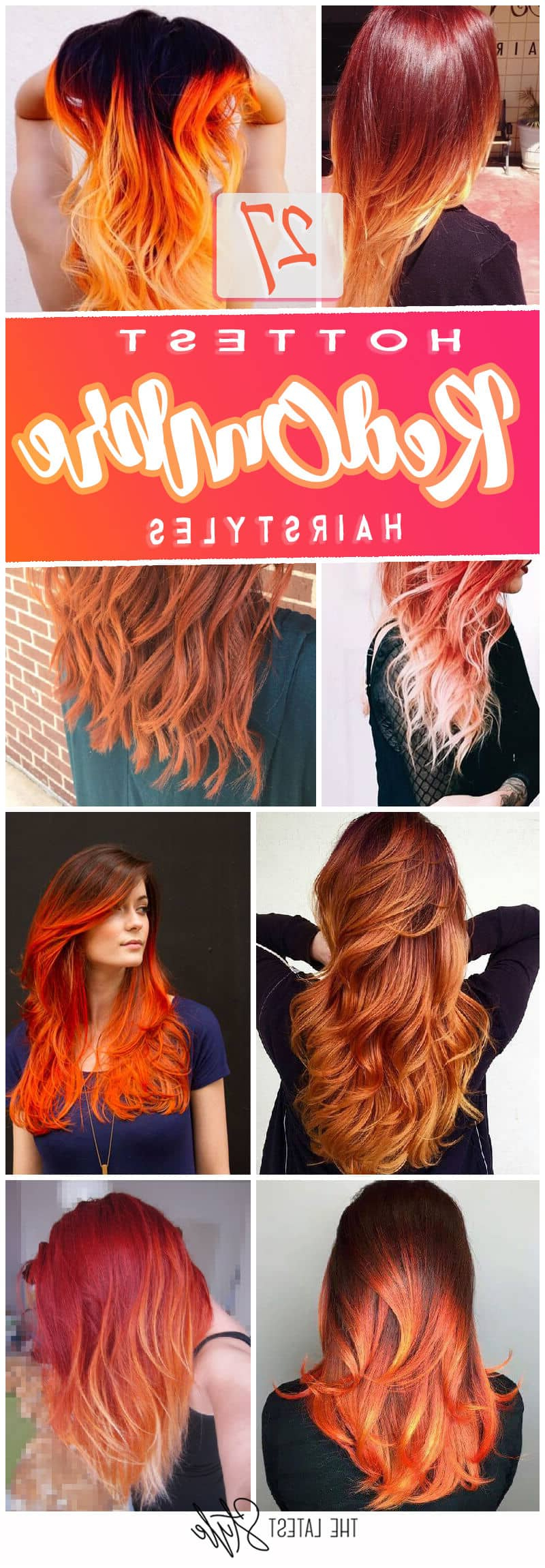 Latest Fire Red Medium Hairstyles Regarding The 27 Hottest Red Ombre Hairstyles (Gallery 13 of 20)