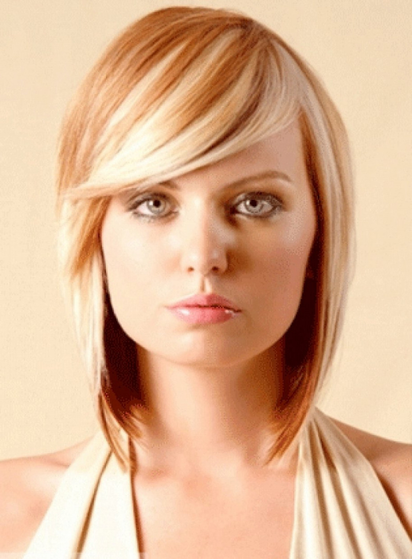Latest Hairstyles And For Fashionable Medium Haircuts Side Bangs (Gallery 5 of 20)