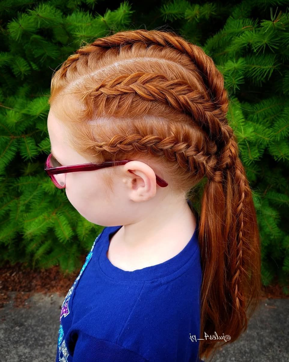 Latest Heartbeat Babe Mohawk Hairstyles With Viking Braid. Dutch Fishtail Braid. Dutch Braids. Braid Combos (Gallery 8 of 20)