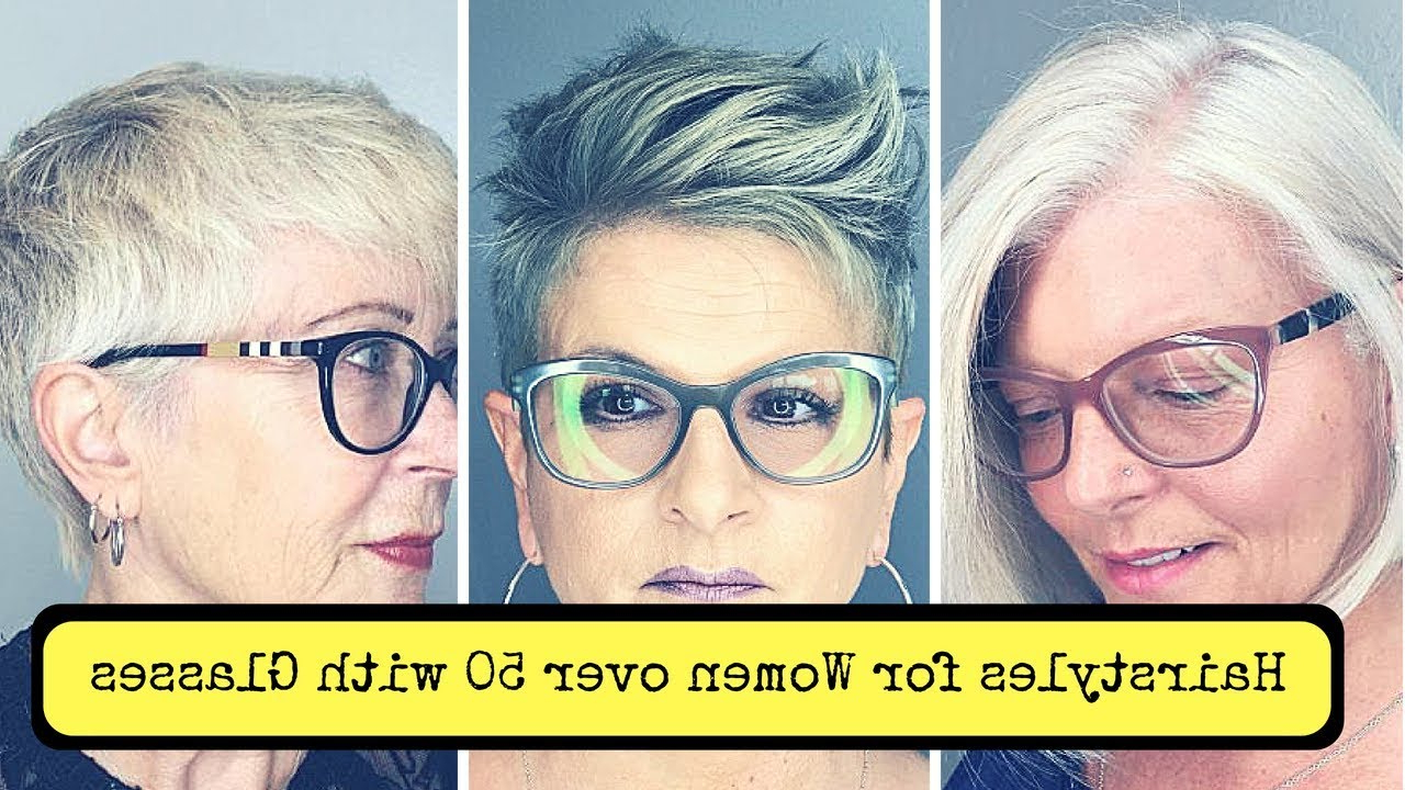 Latest Medium Hairstyles For Glasses Wearers Pertaining To Hairstyles For Women Over 50 With Glasses – Youtube (View 13 of 20)