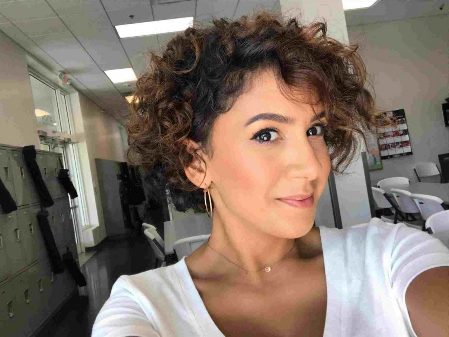 Latest Medium Hairstyles For Round Faces Curly Hair Inside Medium Bob Haircut Curly Hair Round Face Length Curly Hairstyles For (View 11 of 20)