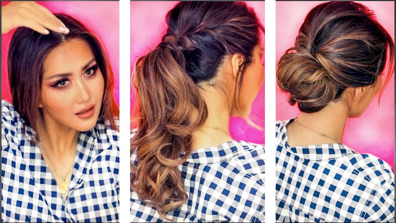 Latest Medium Hairstyles For Work In ☆ ❌ 2 Min Everyday Hairstyles For Work❌ Holiday Updos For Long (View 15 of 20)