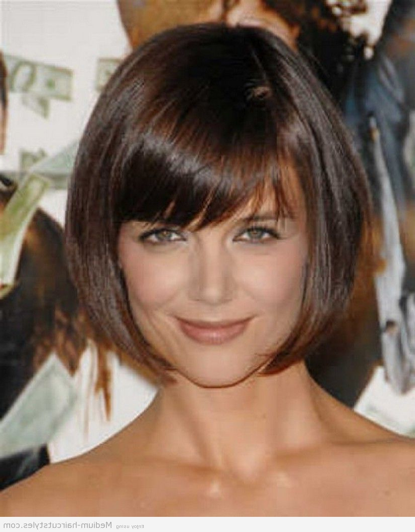 Latest Medium Hairstyles No Bangs Inside Find Out Full Gallery Of Excellent Bob Haircut No Bangs (View 17 of 20)