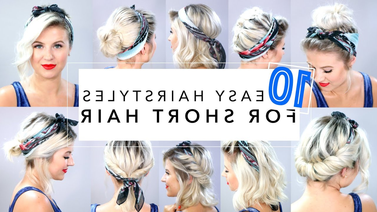 Latest Medium Hairstyles With Bandanas With Regard To 10 Easy Hairstyles For Short Hair With Headband (Gallery 4 of 20)