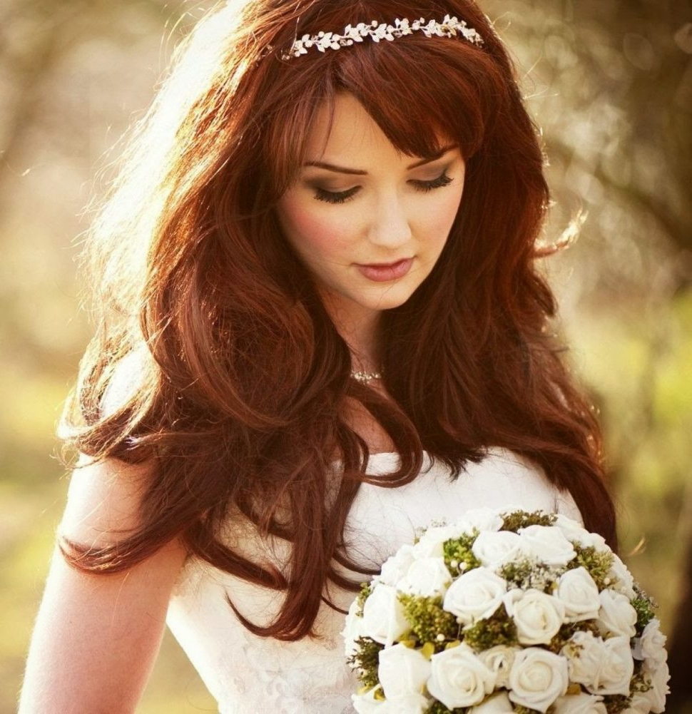 Latest Medium Hairstyles With Headband With Regard To Wedding Hairstyles : Wedding Hair Down With Headband Popular Long (View 9 of 20)