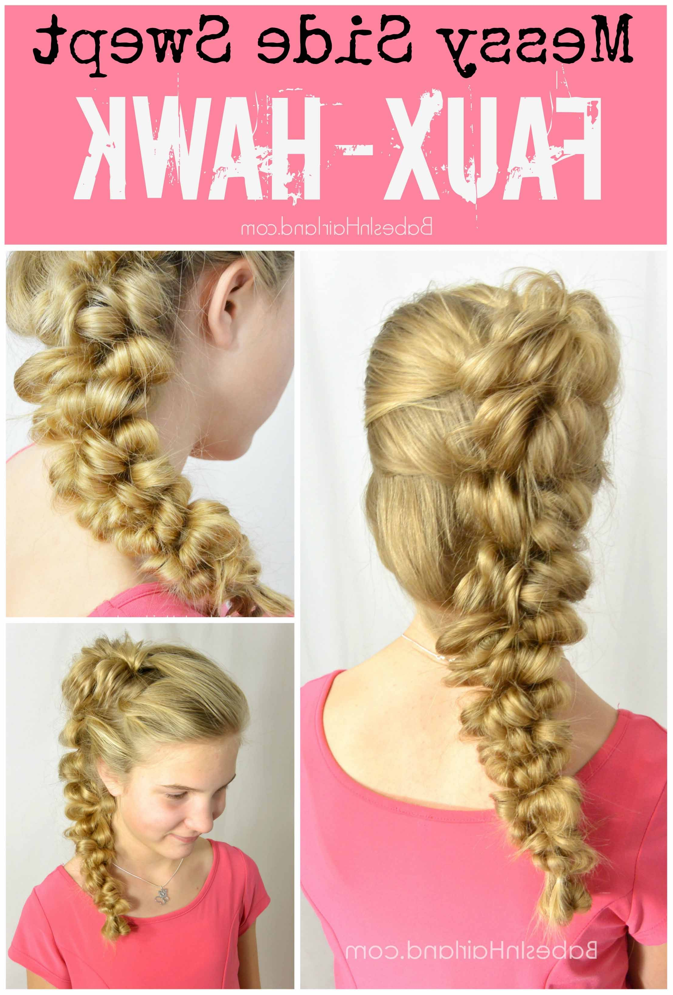Latest Messy Braided Faux Hawk Hairstyles With Messy Side Swept Faux Hawk – Babes In Hairland (View 18 of 20)