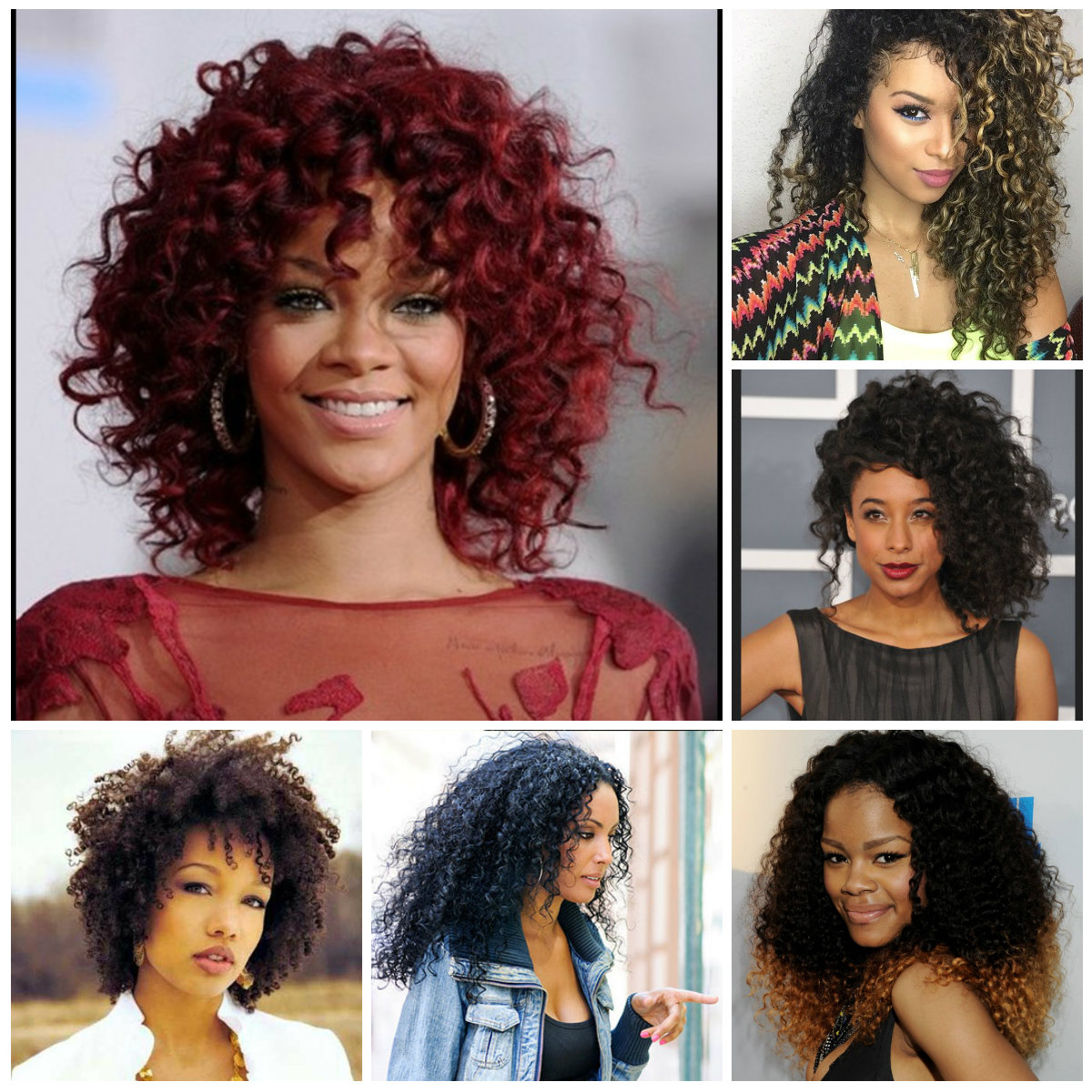 Latest Natural Medium Haircuts For Black Women Pertaining To Big Natural Curly Hairstyles For Black Women  (View 11 of 20)