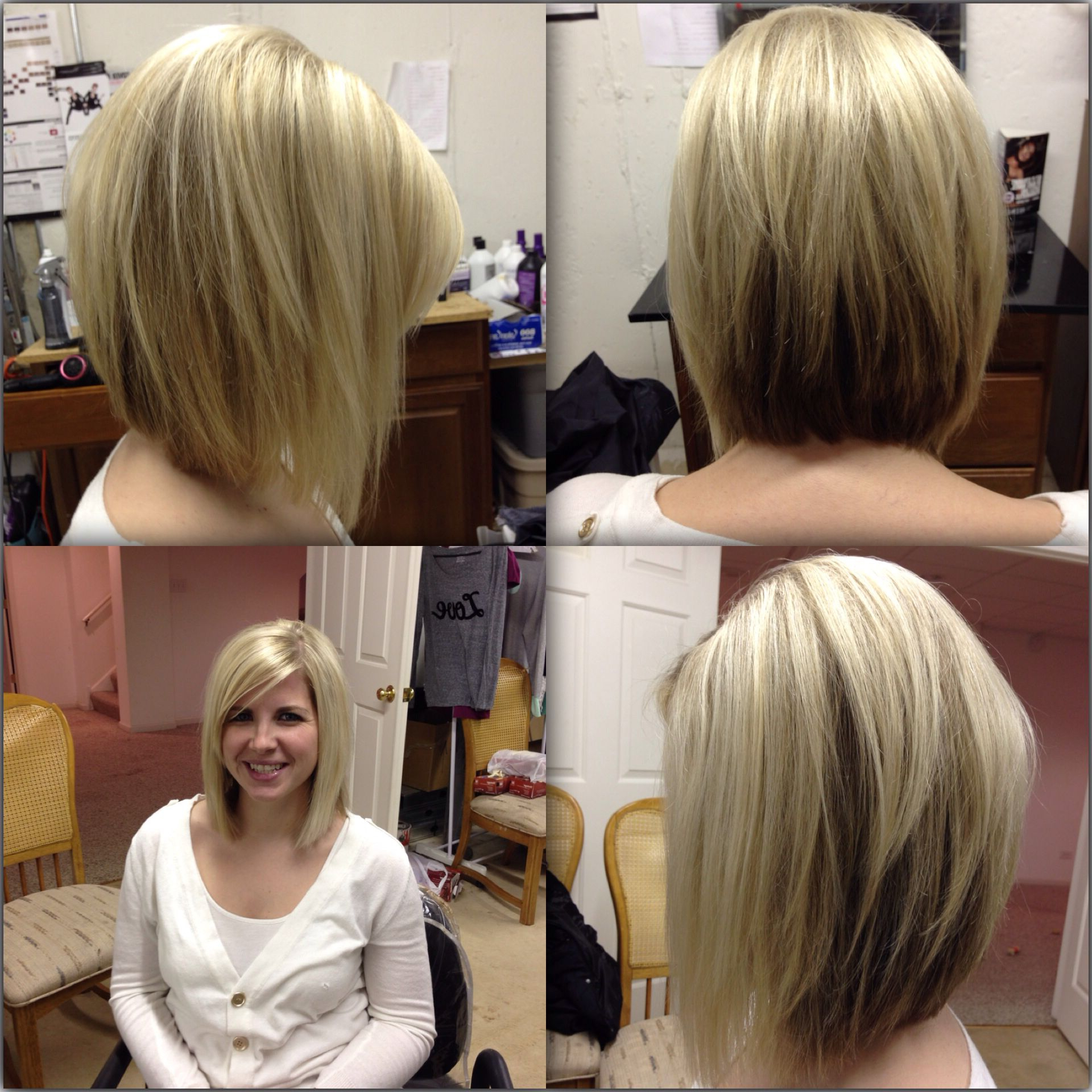 Latest Platinum Layered Side Part Hairstyles For Layered Angled Razor Cut Bob With Platinum Blonde Hilites (Gallery 5 of 20)