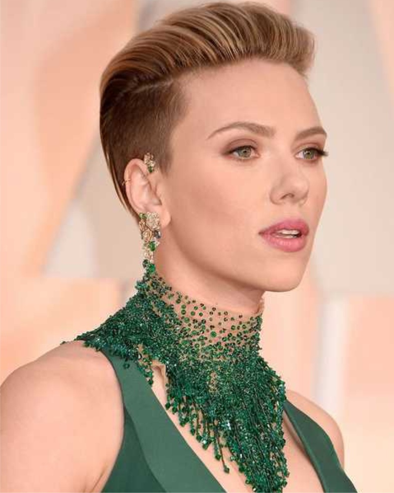 Latest Scarlett Johansson Medium Haircuts Inside Scarlett Johansson Undercut – Haircuts Female (View 6 of 20)