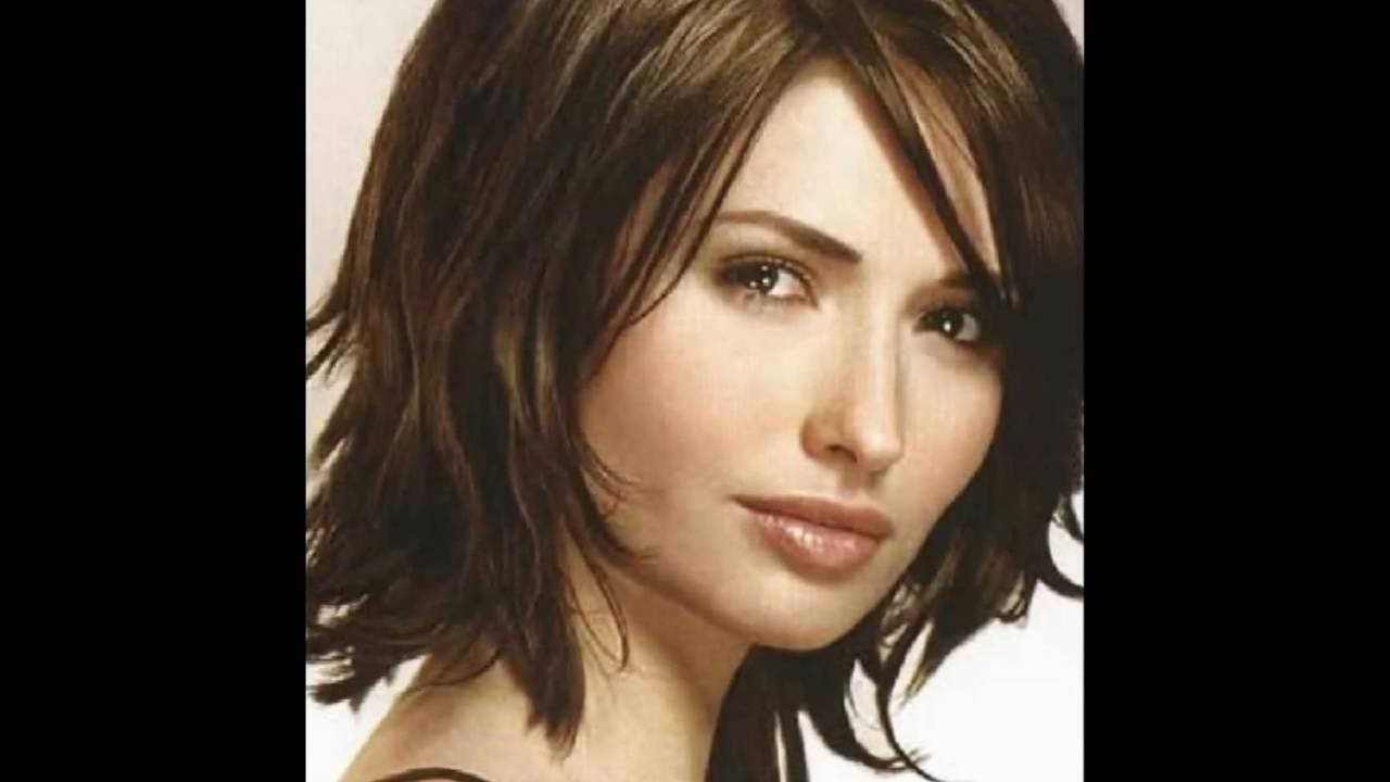 Latest Side Swept Medium Hairstyles Throughout Medium Hairstyle : Pretty Medium Length Layered Hairstyles For Thick (Gallery 20 of 20)