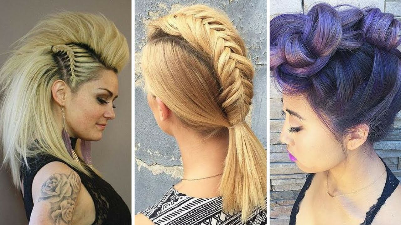Latest The Neelix Faux Hawk Hairstyles Regarding 2018 Faux Hawk Hairstyles For Women – Womens Faux Hawk Updo – Youtube (View 10 of 20)