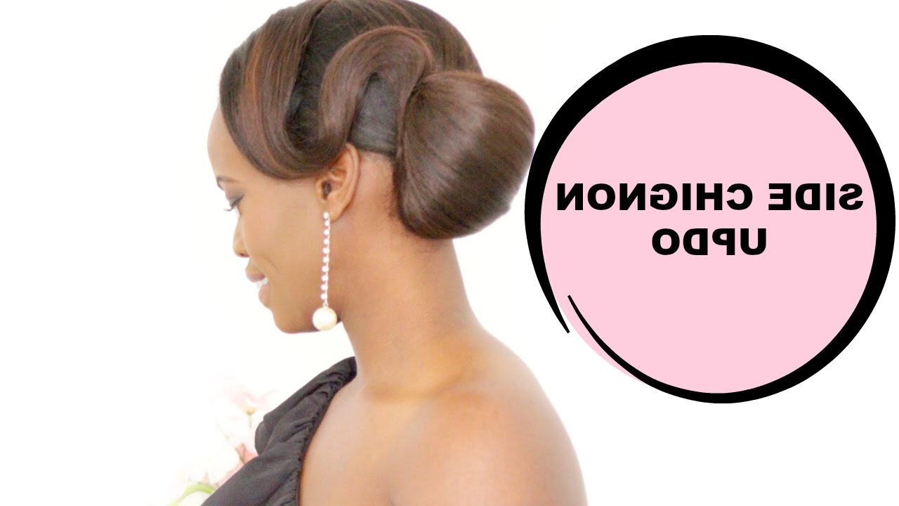 Latest Tyra Banks Medium Hairstyles Regarding Side Chignon Hair Updo Inspiredtyra Banks – Youtube (View 8 of 20)