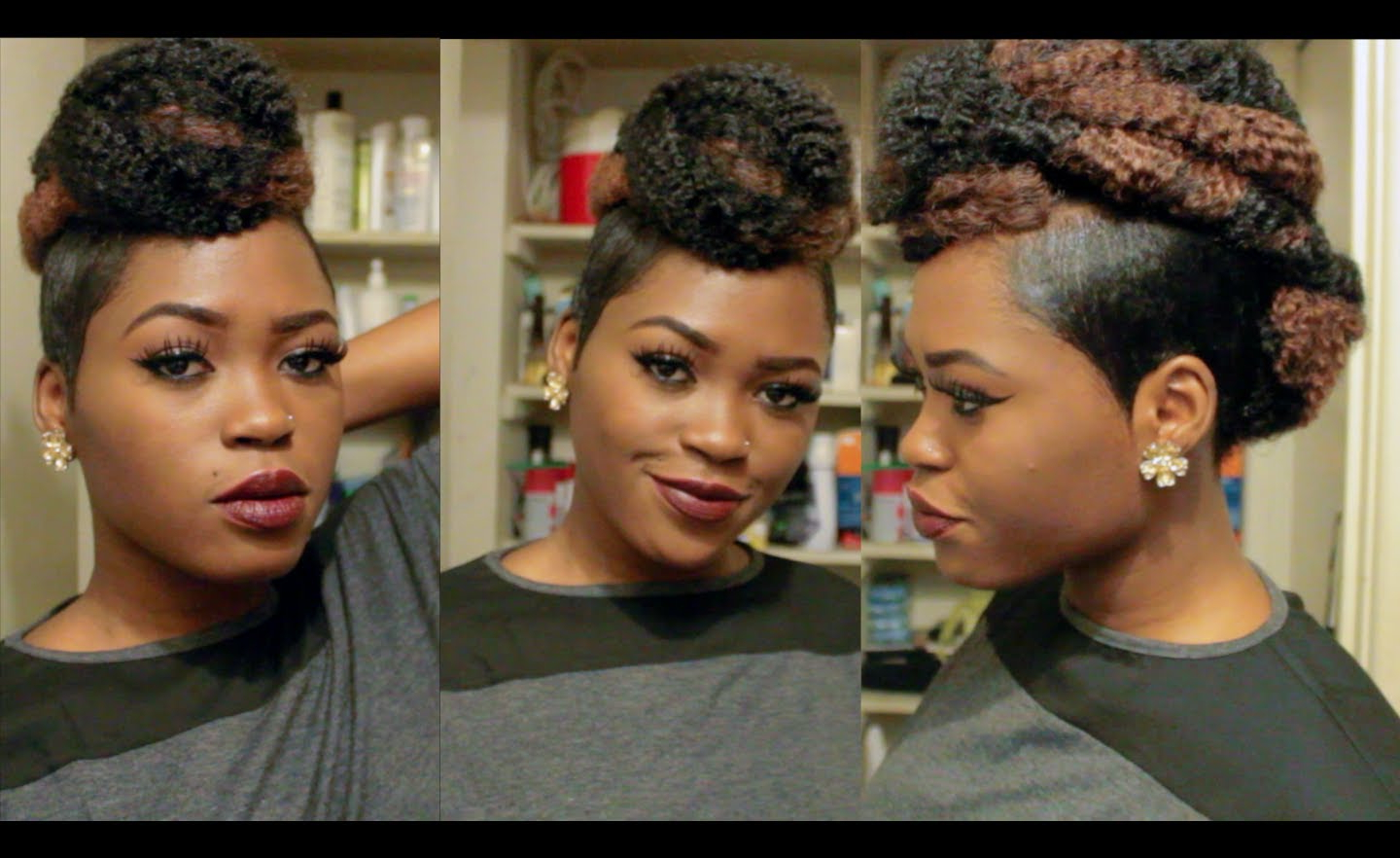[%Latest Whipped Cream Mohawk Hairstyles For Mohawk Updo With Shaved Sides [Video] – Black Hair Information|Mohawk Updo With Shaved Sides [Video] – Black Hair Information Regarding Newest Whipped Cream Mohawk Hairstyles%] (View 1 of 20)