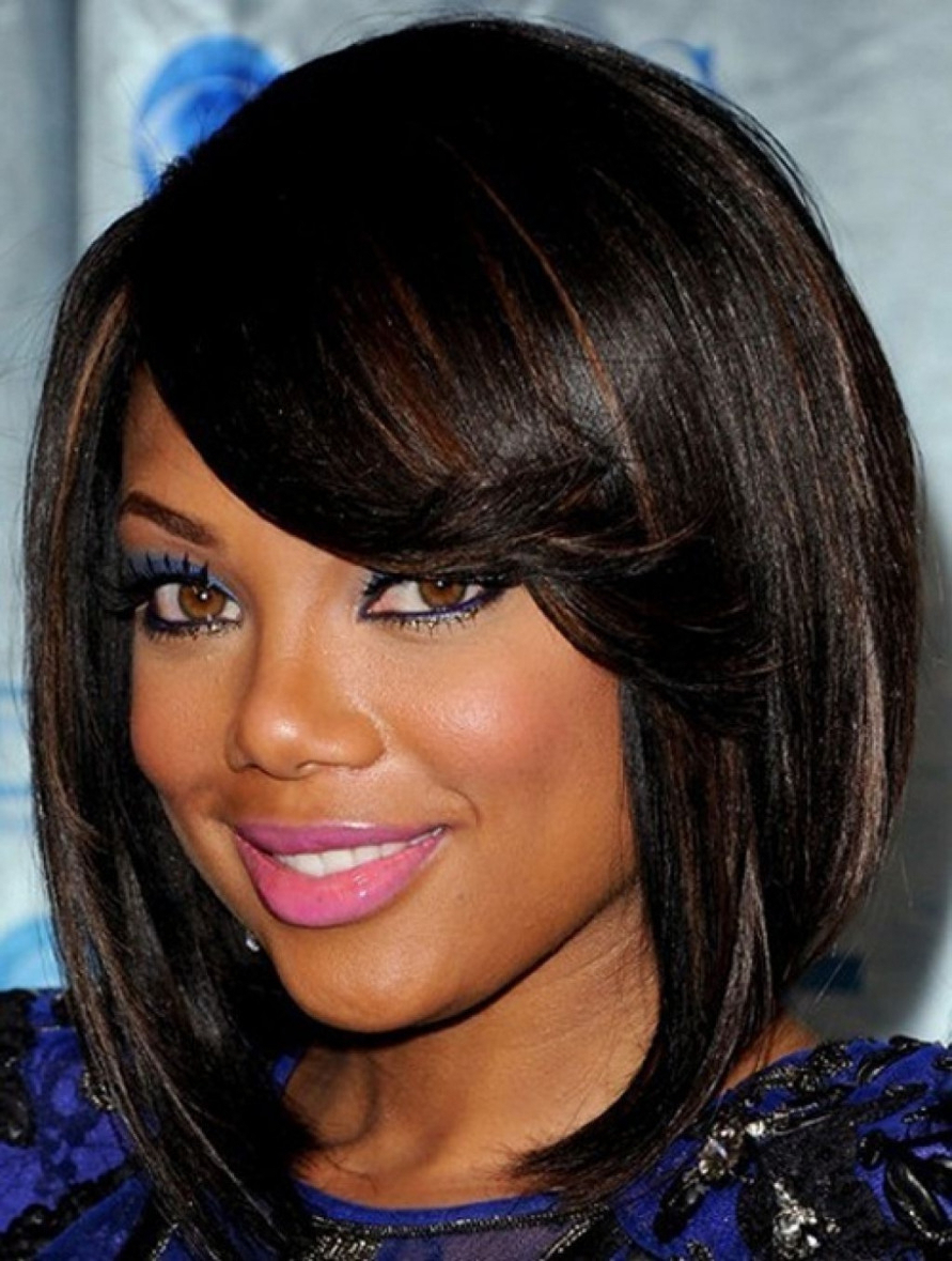 Layered Bob Hairstyles Black Women Women Medium Haircut Black Hair With Most Recently Released Medium Hairstyles On Black Women (View 9 of 20)