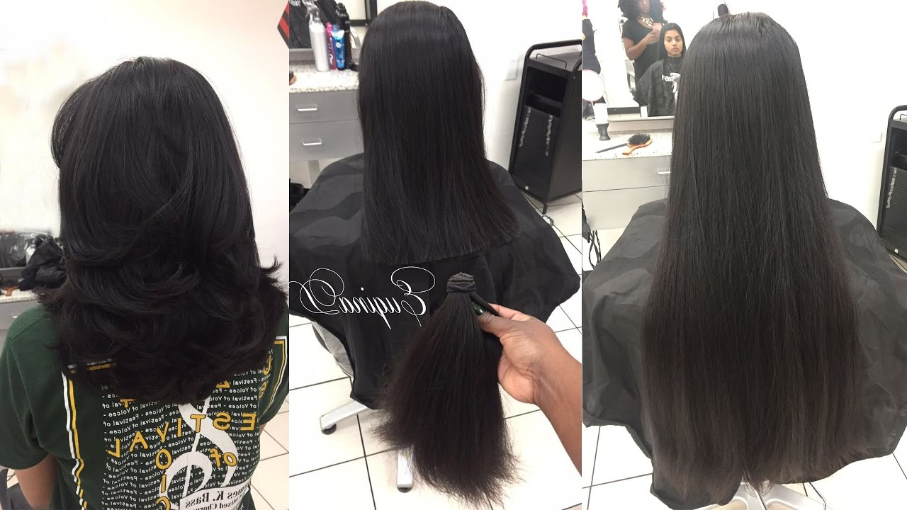 Layered Haircut After Locks Of Love Donation Thick Indian Hair – Youtube Inside Trendy V Cut Layers Hairstyles For Thick Hair (Gallery 20 of 20)