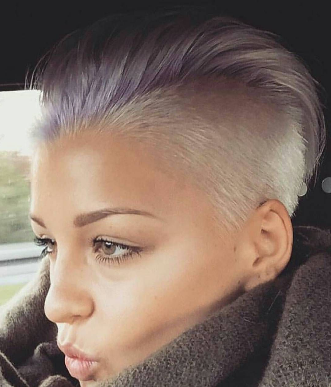 Lilac & Platinum Undercut (Looking To Cred) :) #behindthechair With Regard To Well Known Platinum Mohawk Hairstyles With Geometric Designs (Gallery 8 of 20)