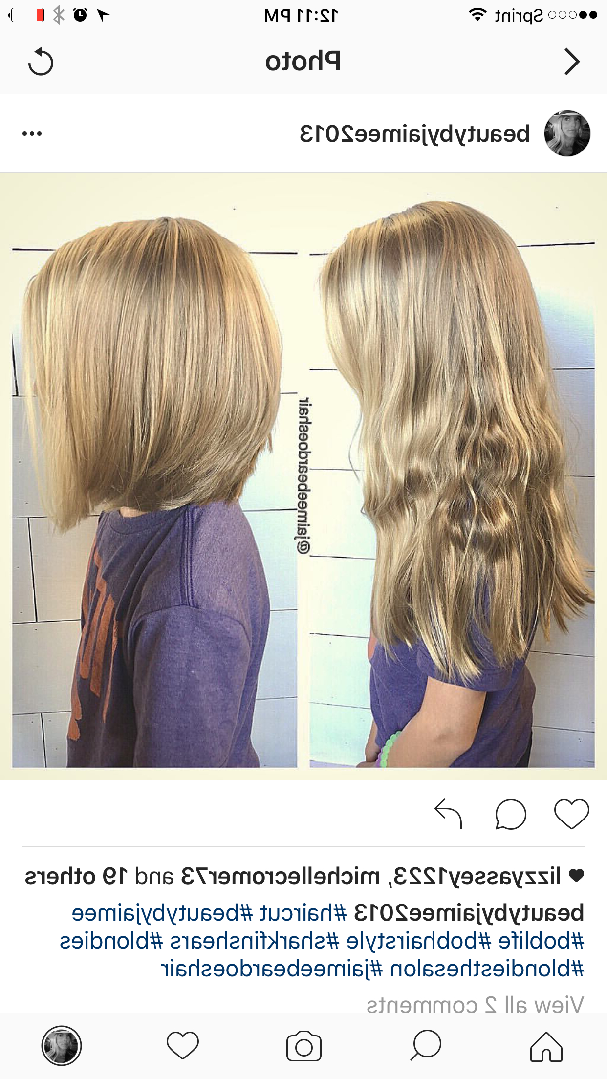 Little Girls Haircut From Long Locks To Shoulder Length Bob With Widely Used Kids Medium Haircuts With Bangs (View 11 of 20)