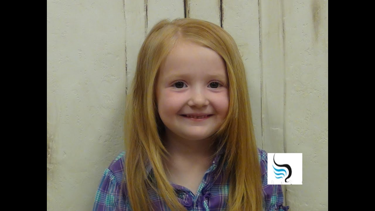 Little Girls (medium Length) Hairstyles – Youtube Intended For Trendy Kids Medium Haircuts With Bangs (View 12 of 20)