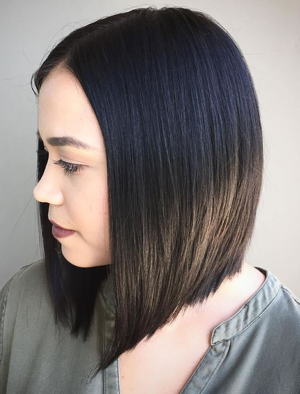 Long Bob Medium Straight Hair Style For Thin Hair – Hairstyles Pertaining To Favorite Medium Haircuts Straight Hair (View 9 of 20)