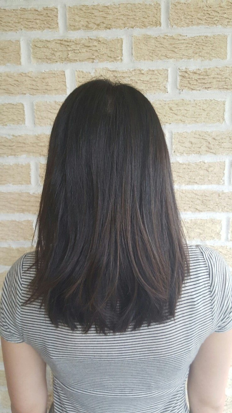 Long Bob Pertaining To Well Known Swoopy Layers Hairstyles For Mid Length Hair (Gallery 2 of 20)