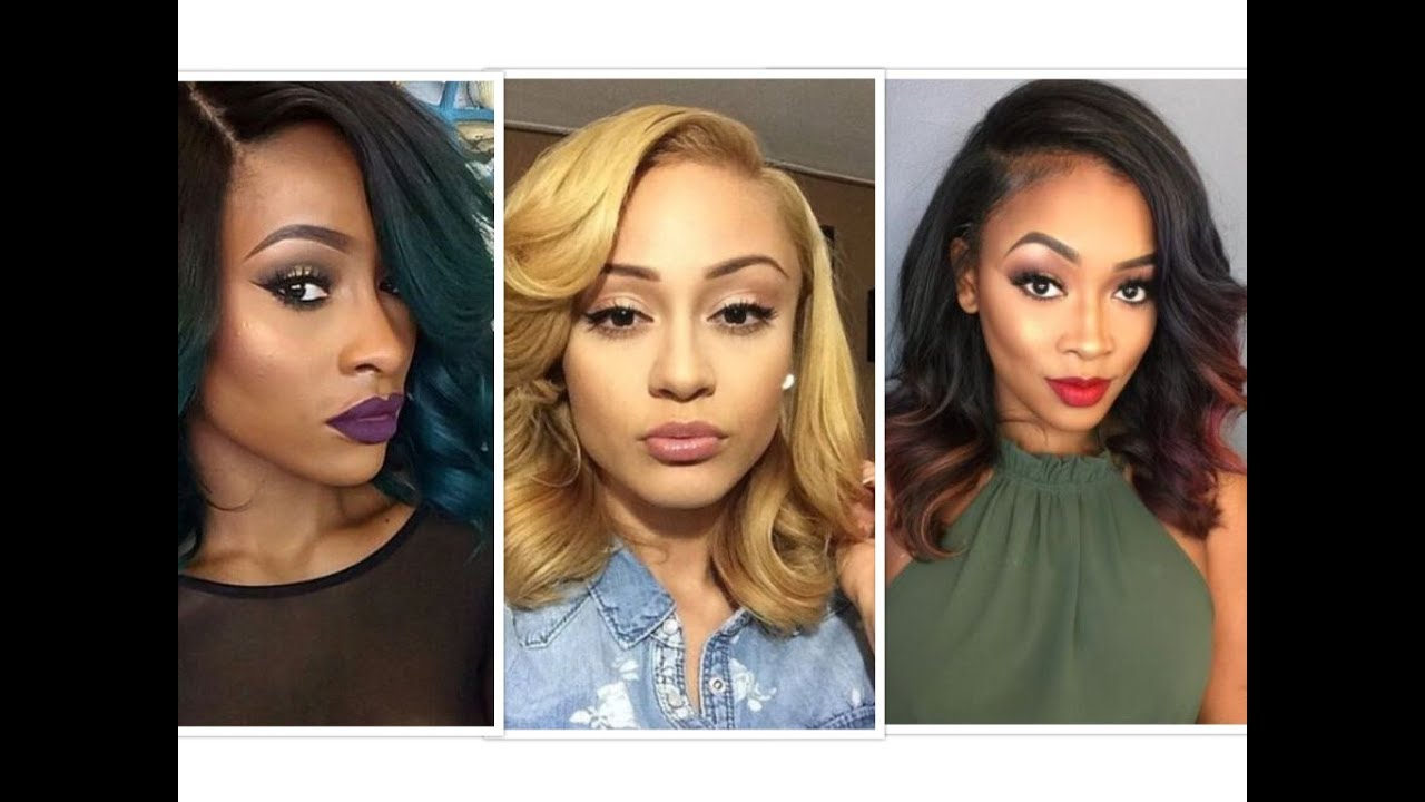 Lovely Colored Shoulder Length Hairstyles For Black Women. – Youtube With Regard To Recent Black Woman Medium Hairstyles (Gallery 8 of 20)