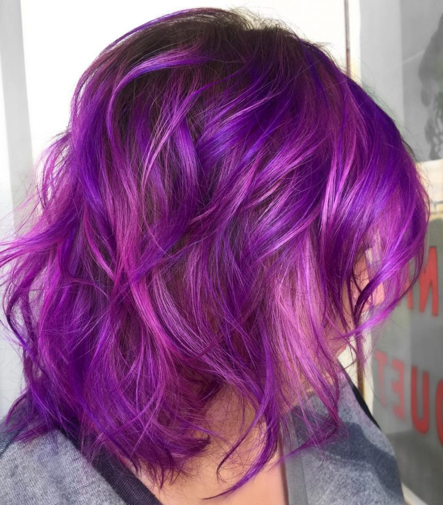 Luscious Trends: Fall In Love With These Ombre Colors For Medium Intended For Well Known Purple Medium Hairstyles (Gallery 7 of 20)