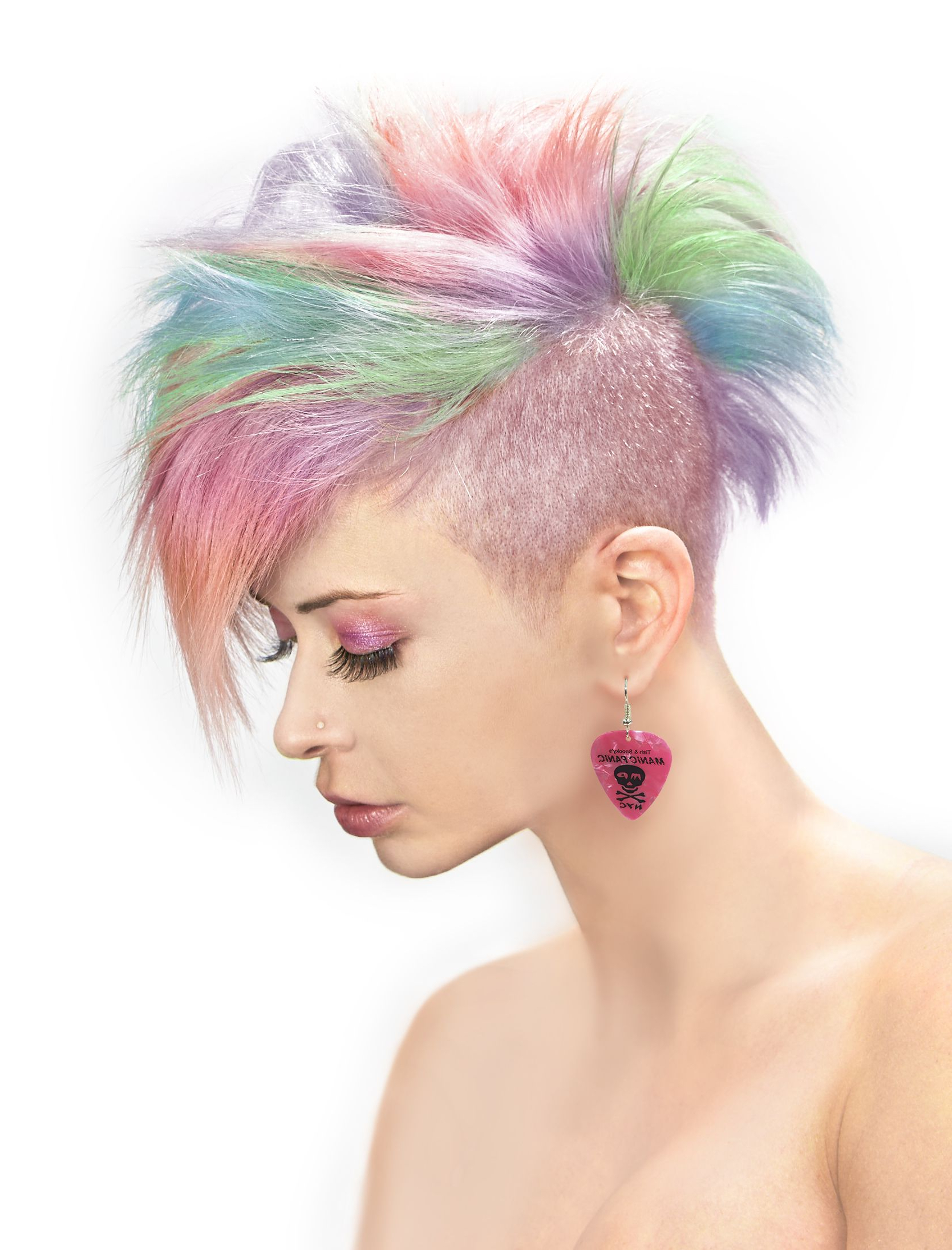 Manic Panic Fleurs Du Mal Creamtones Perfect Pastel Pink Cream In Recent Funky Pink Mohawk Hairstyles (View 9 of 20)