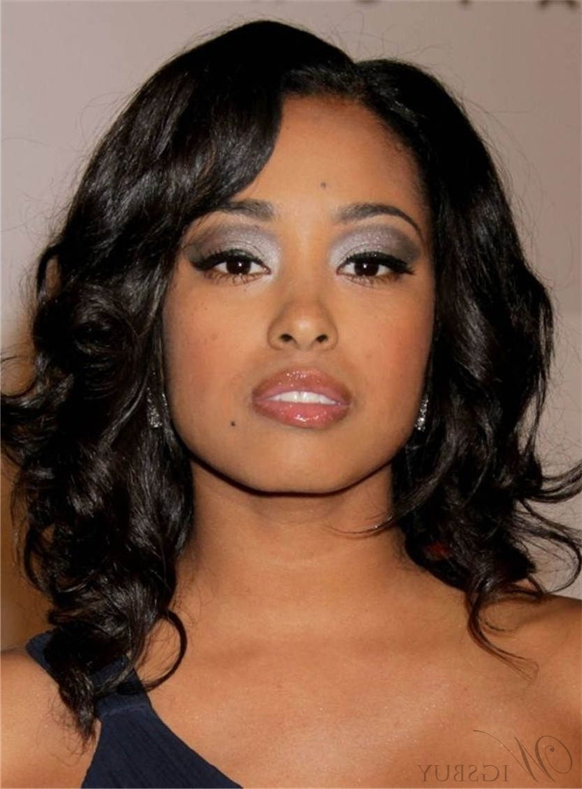 Medium Fabulous Wavy Natural Synthetic Hair Lace Front African With Regard To Famous Black Women Medium Haircuts (View 17 of 20)