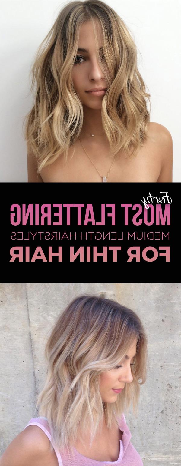 Medium Haircuts For Thin Hair – Leymatson Regarding Current Medium Haircuts For Blondes With Thin Hair (View 15 of 20)