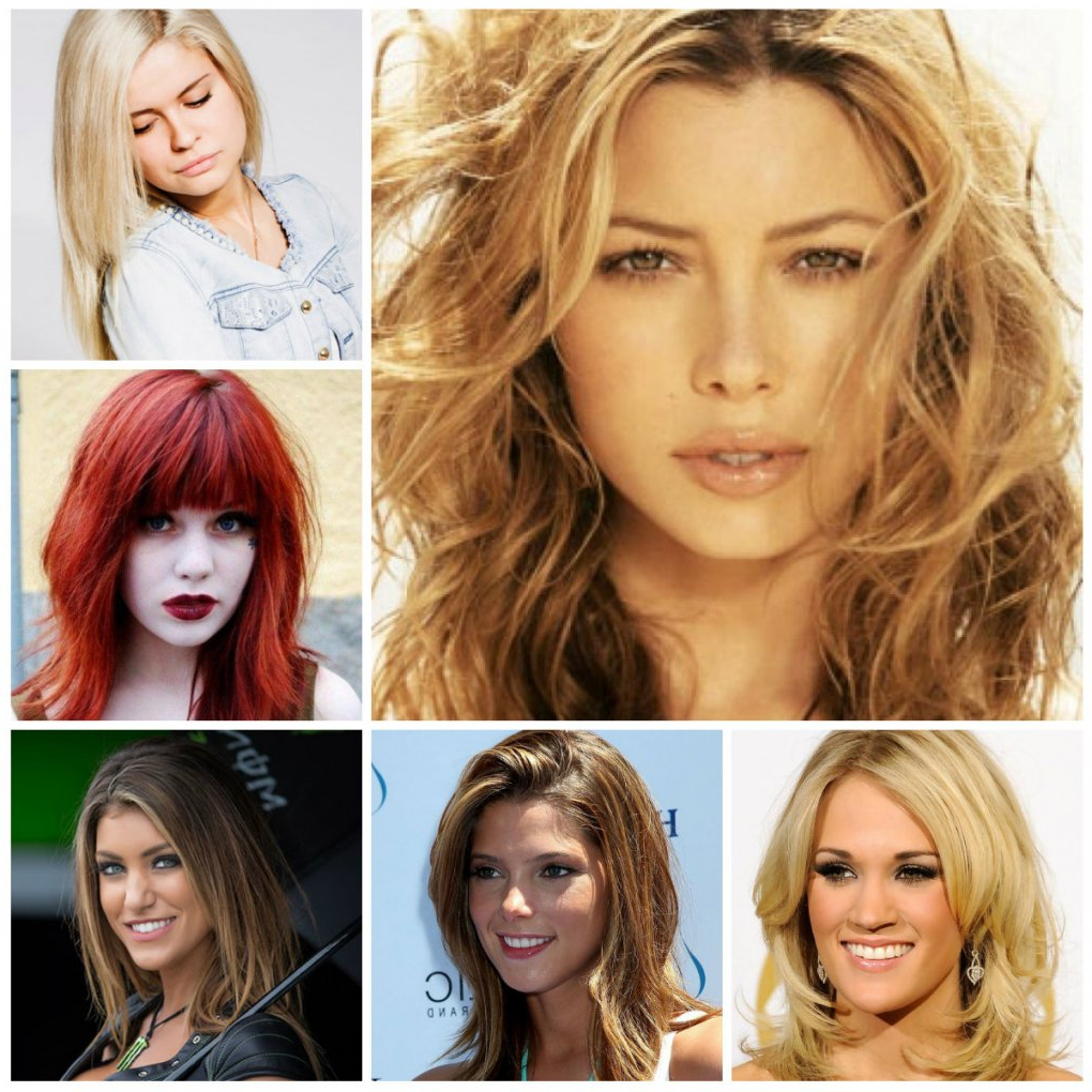 Medium Haircuts Highlights Hairstyles For Thick Curly Medium Length With Regard To Most Up To Date Thick Curly Medium Haircuts (View 14 of 20)
