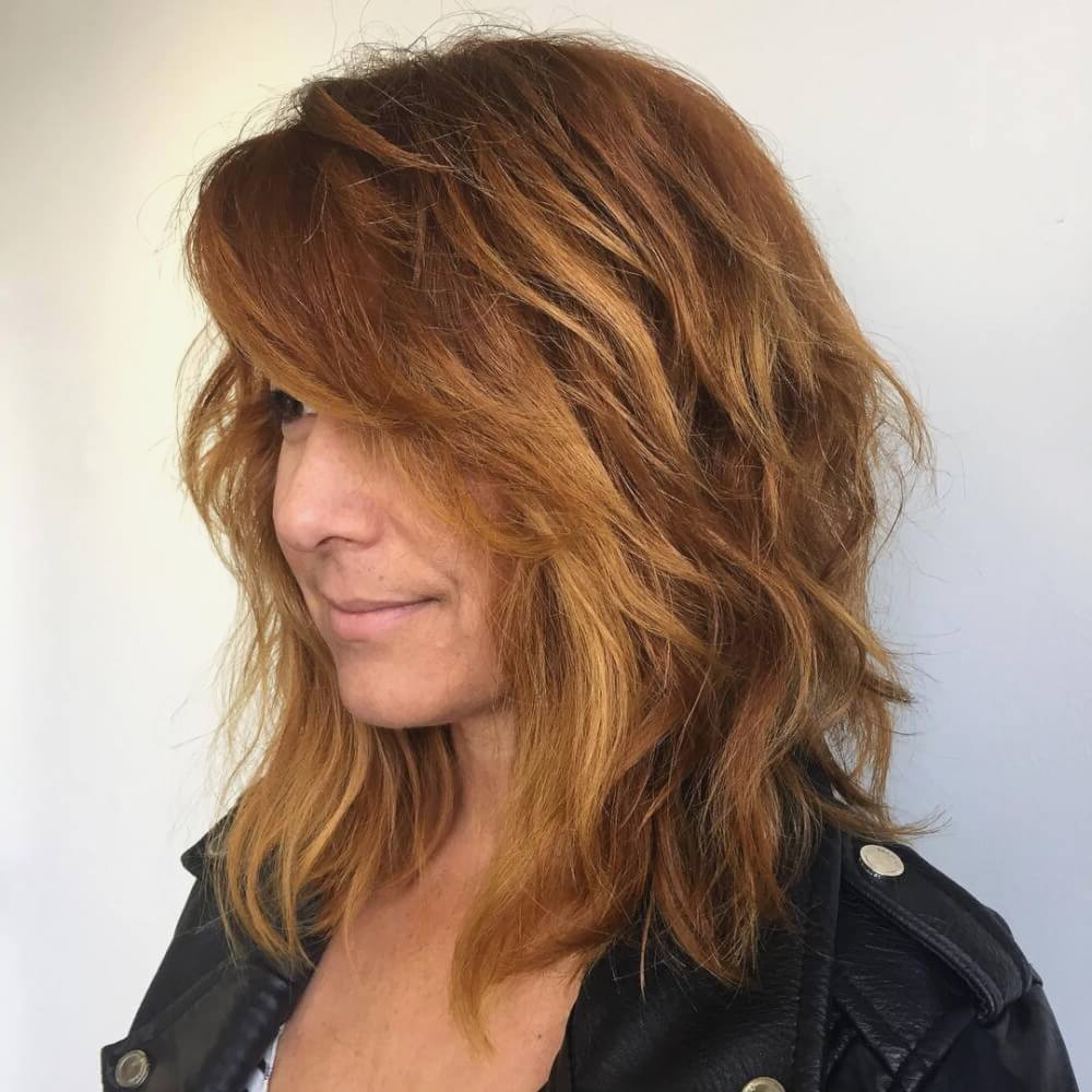 Medium Hairstyle : Agreeable Medium Long Layered Hairstyles With With Most Current Layered Medium Hairstyles With Side Bangs (View 10 of 20)