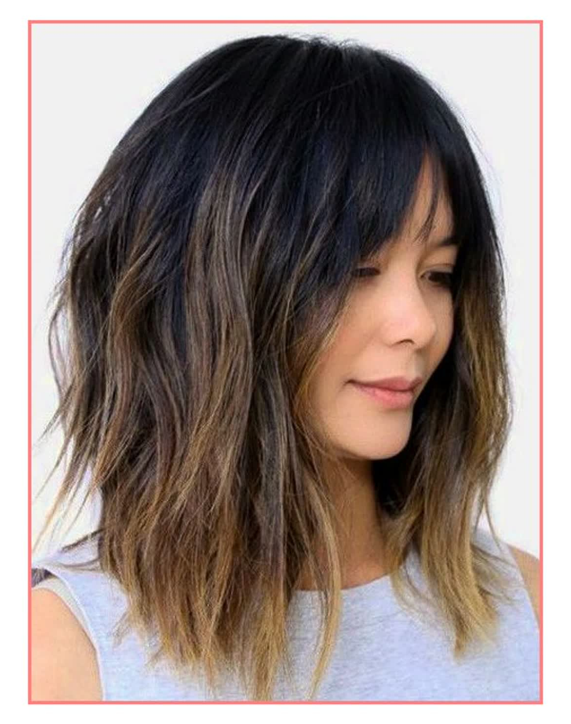 Medium Hairstyle : Astounding Womens Medium Hairstyles Trending In Most Current Best Medium Hairstyles With Bangs (View 10 of 20)