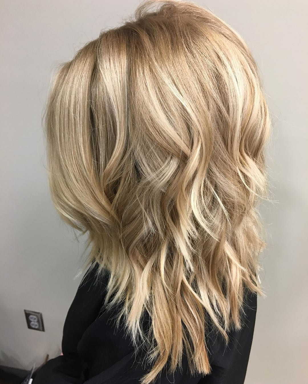 Medium Hairstyle : Medium Length Layered Hairstyles Adorable With Throughout Fashionable Mid Length Haircuts With Curled Layers (View 15 of 20)