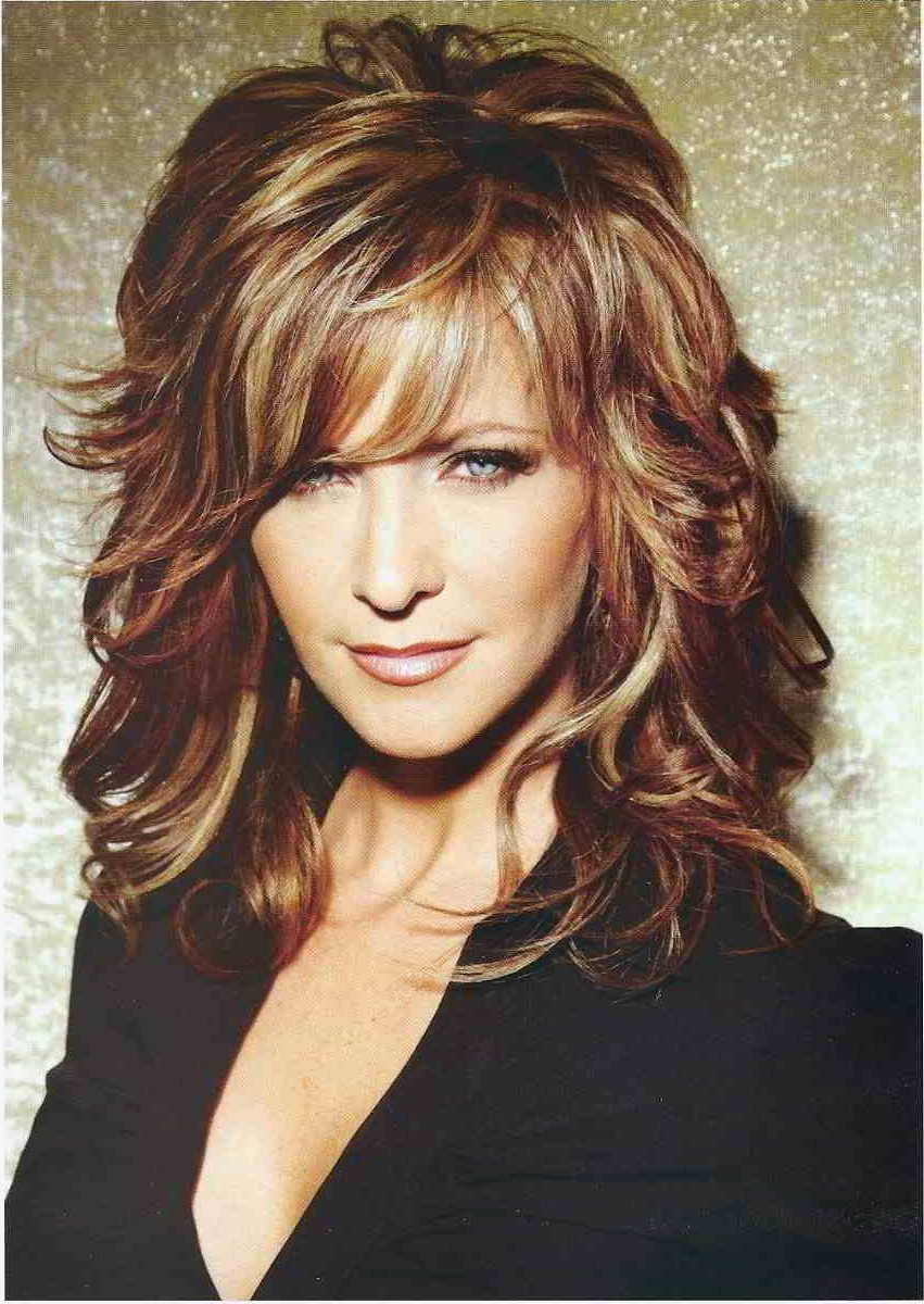 Medium Hairstyle : Medium Length Layered Hairstyles For Thin Hair Regarding Famous Curly Medium Hairstyles With Bangs (View 11 of 20)