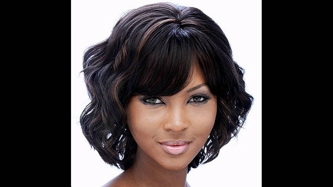 Medium Hairstyles For Black Women – Youtube Pertaining To Latest Black Medium Hairstyles (View 5 of 20)