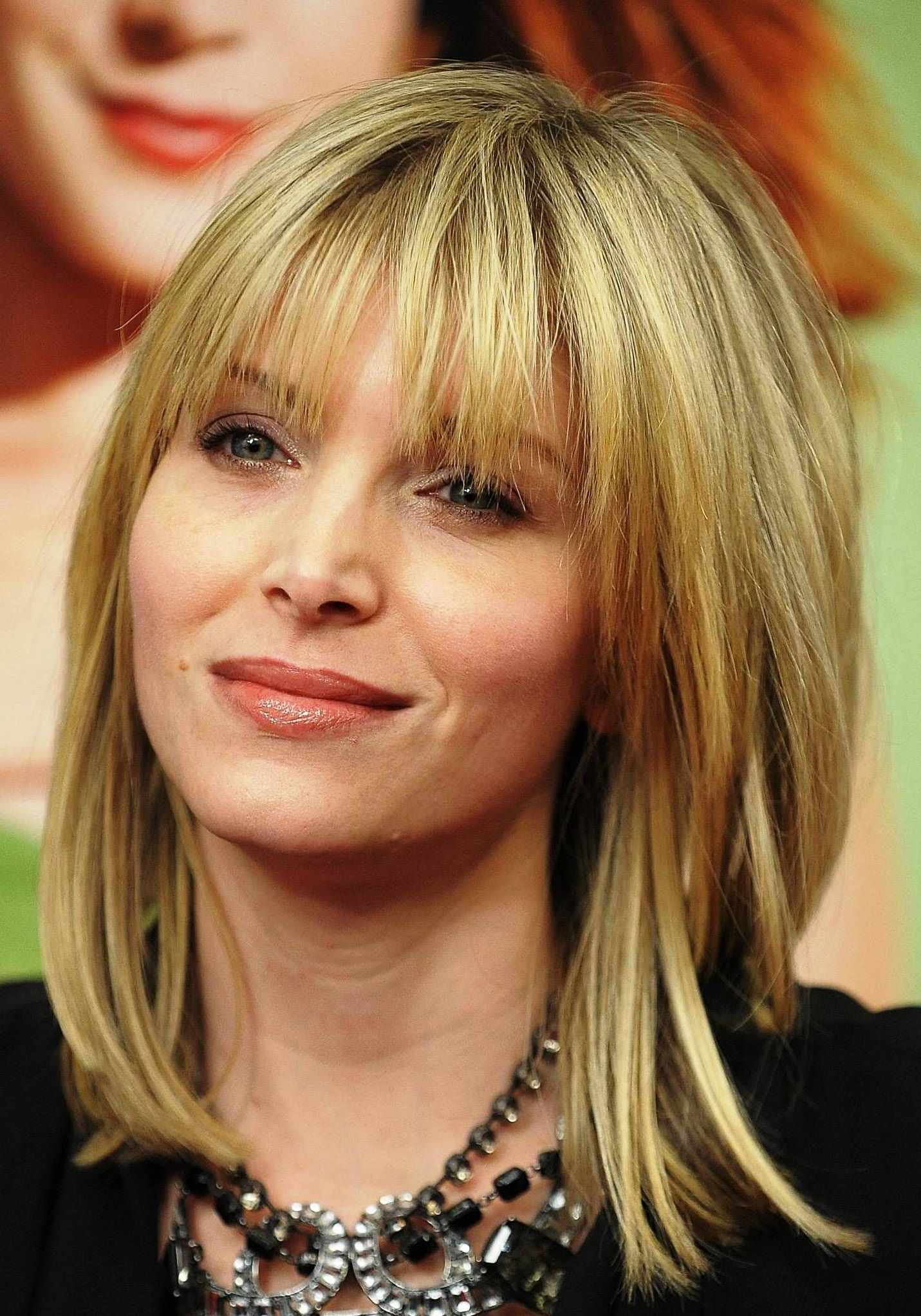 Medium Hairstyles With Bangs Round With Recent Medium Hairstyles For Square Faces With Bangs (View 15 of 20)